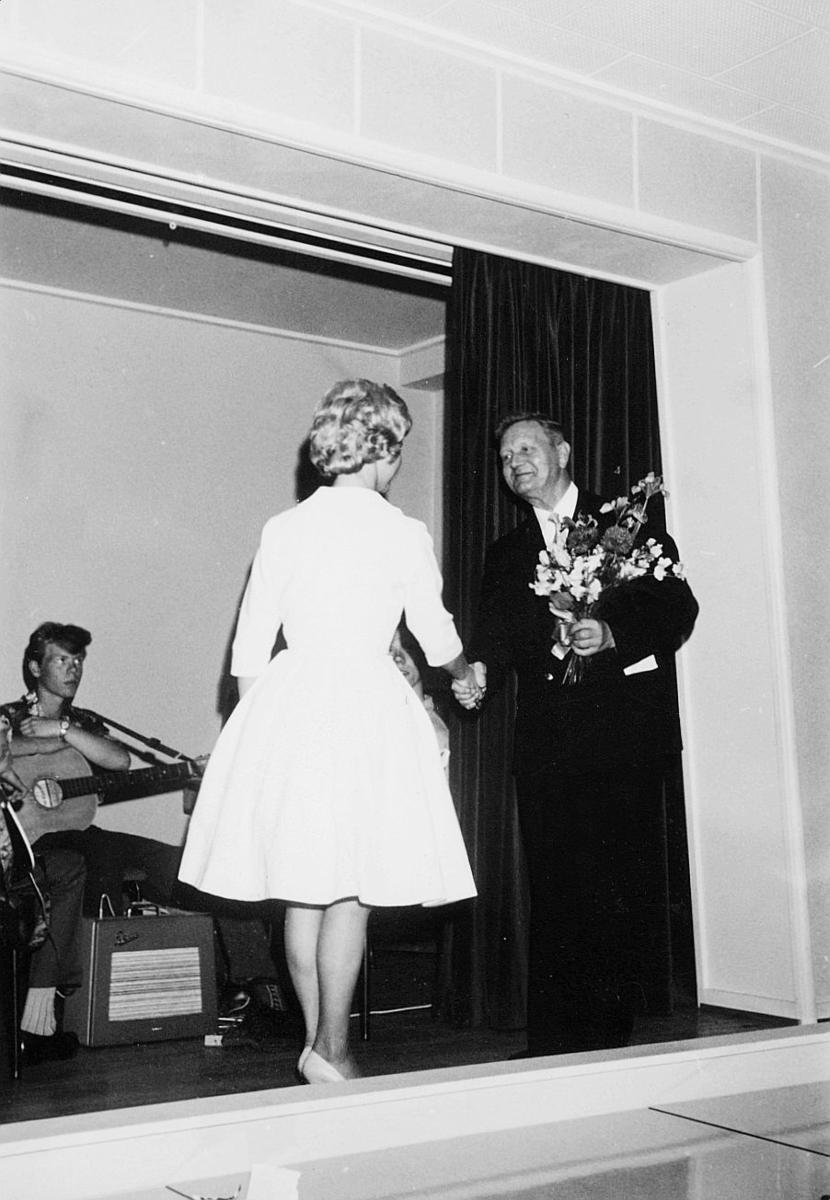 postskolen, assistentkurs, eksamensfest i Oslo, juni 1960