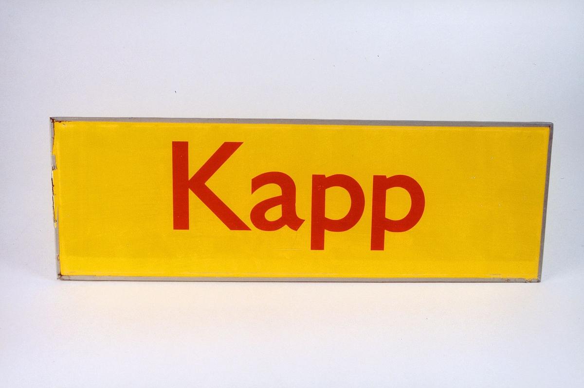 Postmuseet, gjenstander, skilt, stedskilt, stedsnavn, Kapp.
