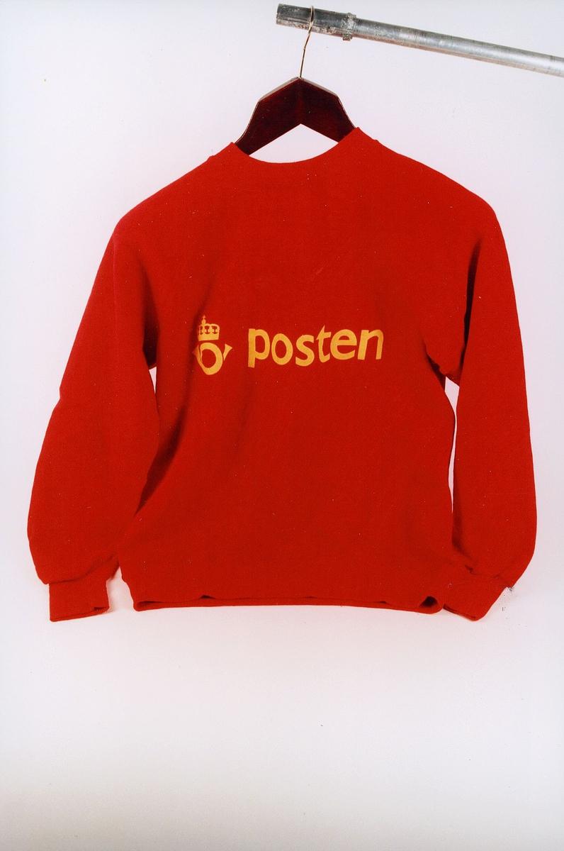 postmuseet, gjenstander, profilklær, genser med lang erm, Posten og Postens logo