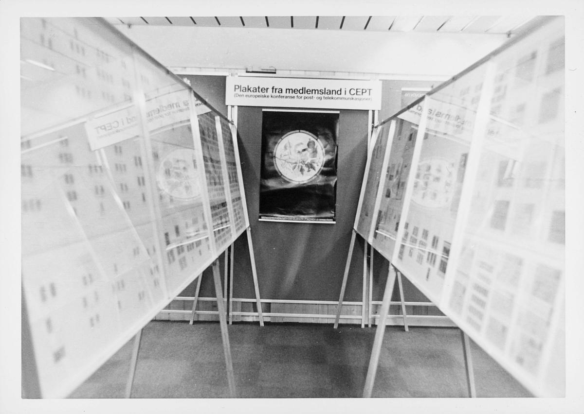 markedsseksjonen, verdenspostforeningen 100 år, filateli, frimerkeutstilling, plakater, medlemsland i CEPT