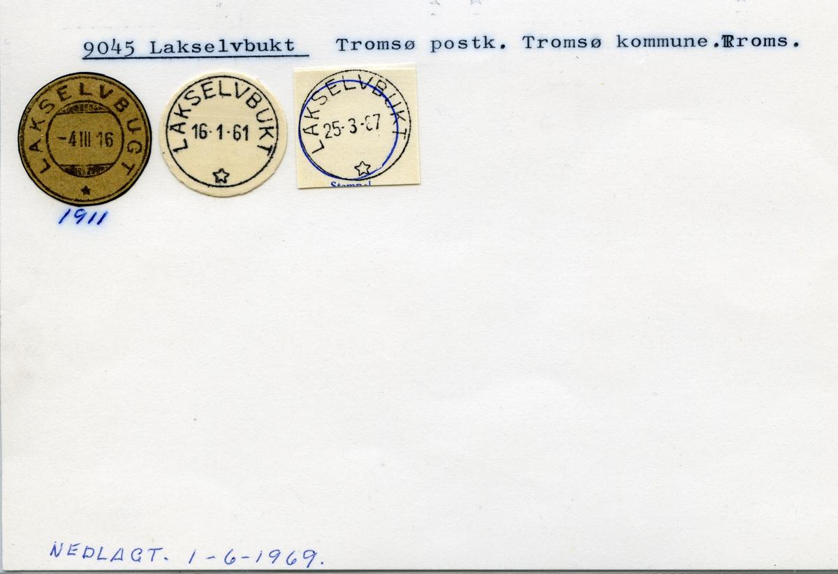 Stempelkatalog 9045 Lakselvbukt, (Lakselvbugt), Tromsø, Troms