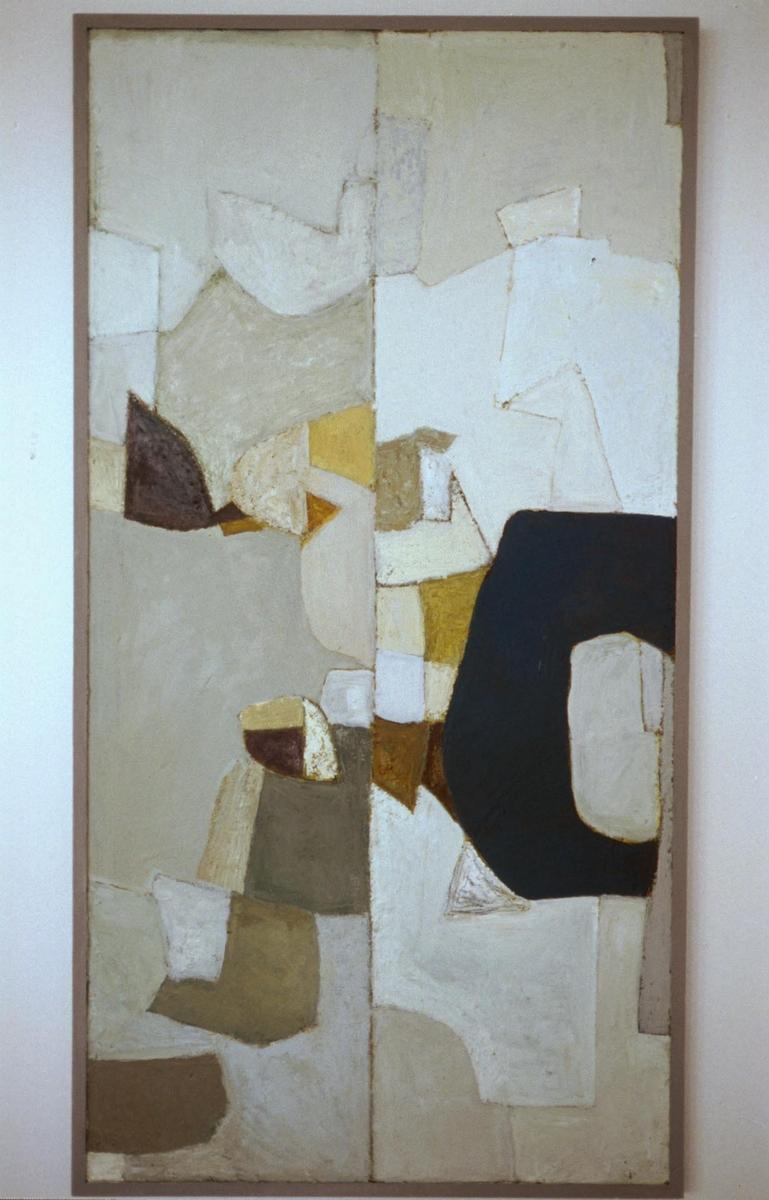 Arbeidet inngår i en utsmykking som består av totalt åtte abstrakte malerier fordelt på seks mindre rettssaler. Hvert bilde har en midtlinje, og på begge sider av denne er det organiske former som holder hverandre i likevekt.