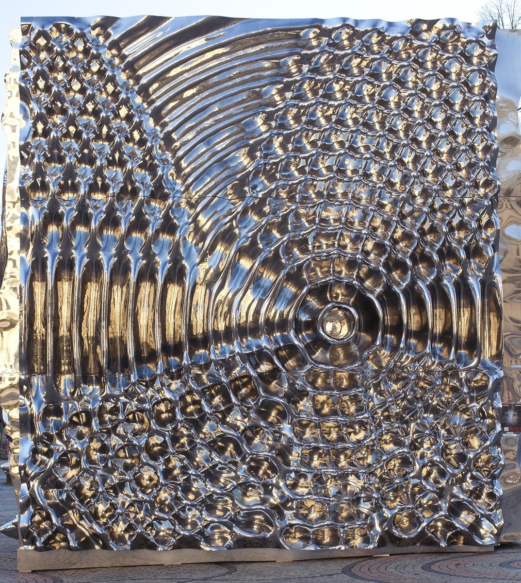 Relieffet er en visualisering av en Doppler-forskjøvet høy C med interferens fra ekko.