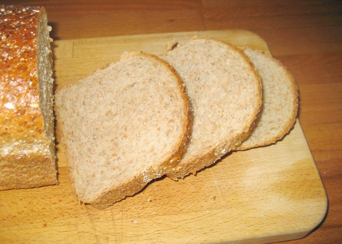 Det er intet motiv på klistermerket på brødposen