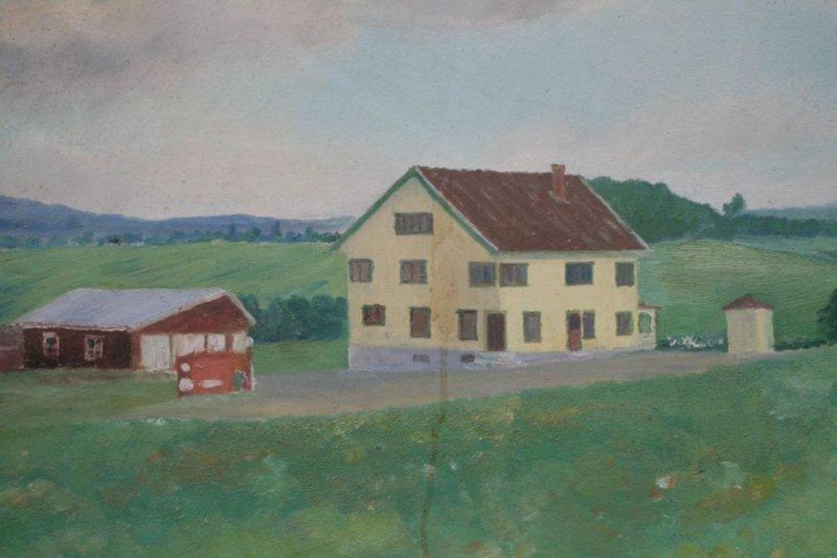 Flakstad landhandleri - eller Flakstad handelslag med kiosk og uthus.