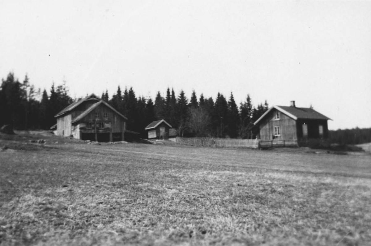 Husene på Uriansrud før husene ble bygget om.