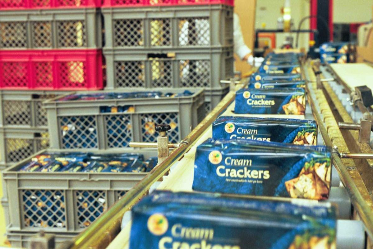 Cream Cracker, samlebånd, fabrikkmiljø, maskiner