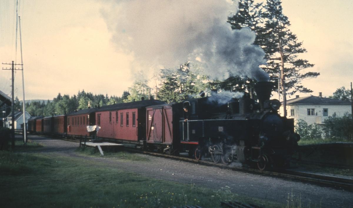 Tog 2066 til Sørumsand på Aurskog stasjon