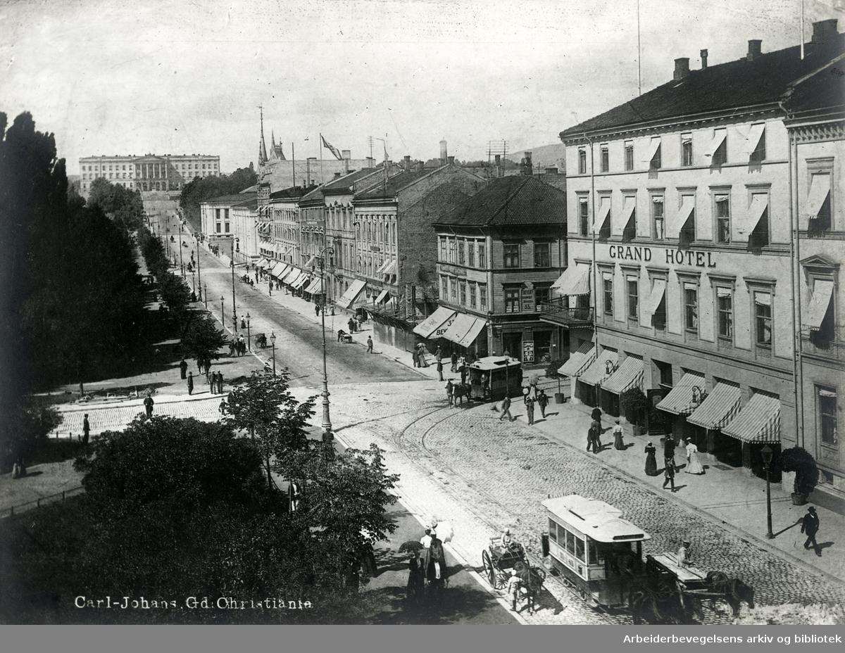 Karl Johans gate,.1890-årene..
