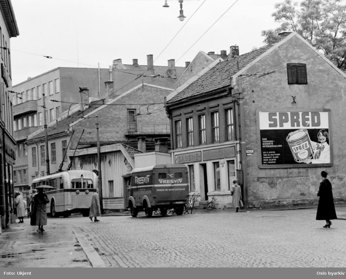 Oslo Sporveier, OS A-15775 trolleybuss i Maridalsveien.
