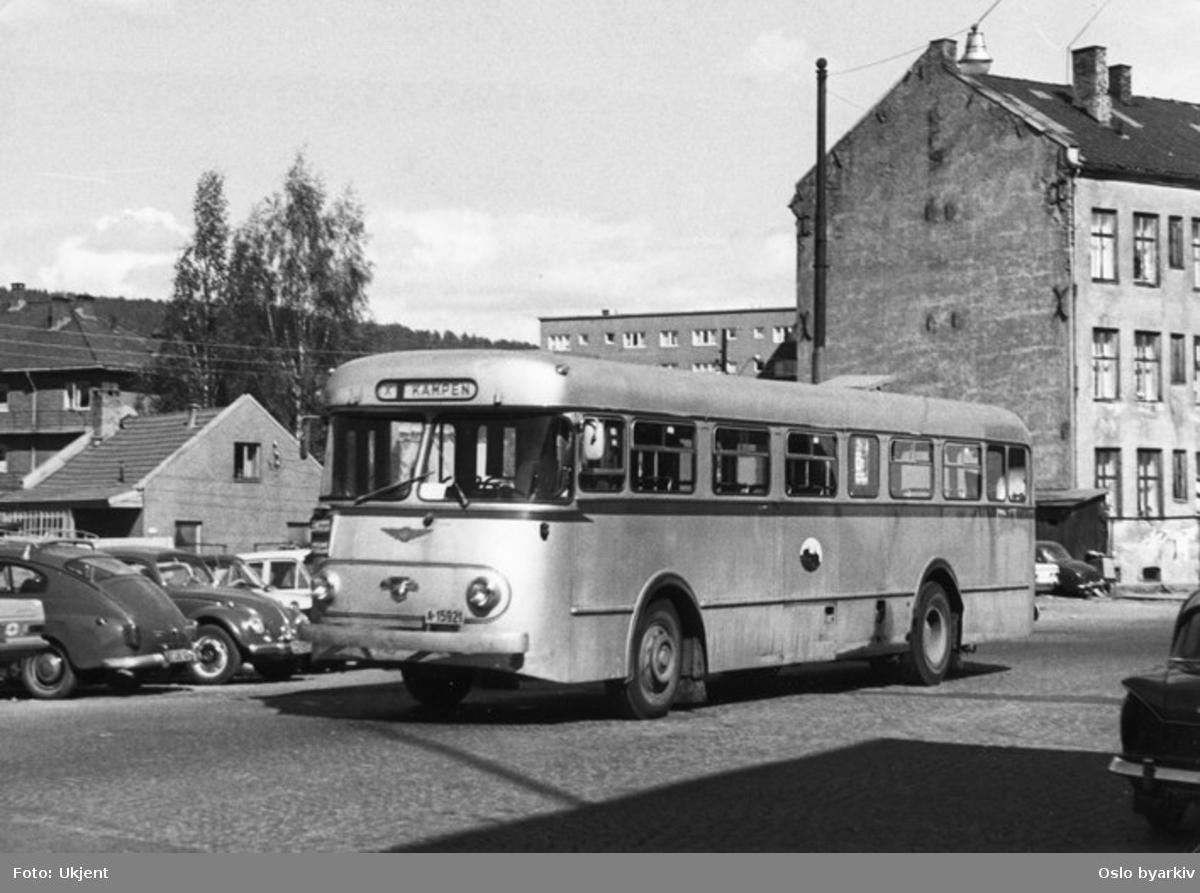 Oslo Sporveier. Sporveisbuss, A-15920 - 929 dieselbuss Larvik / Leyland, linje X til Kampen.