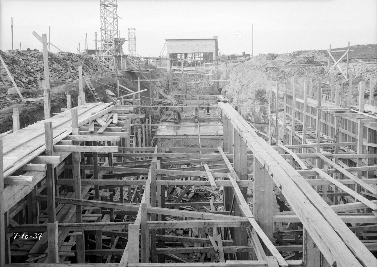 Skipsmodelltanken under bygging