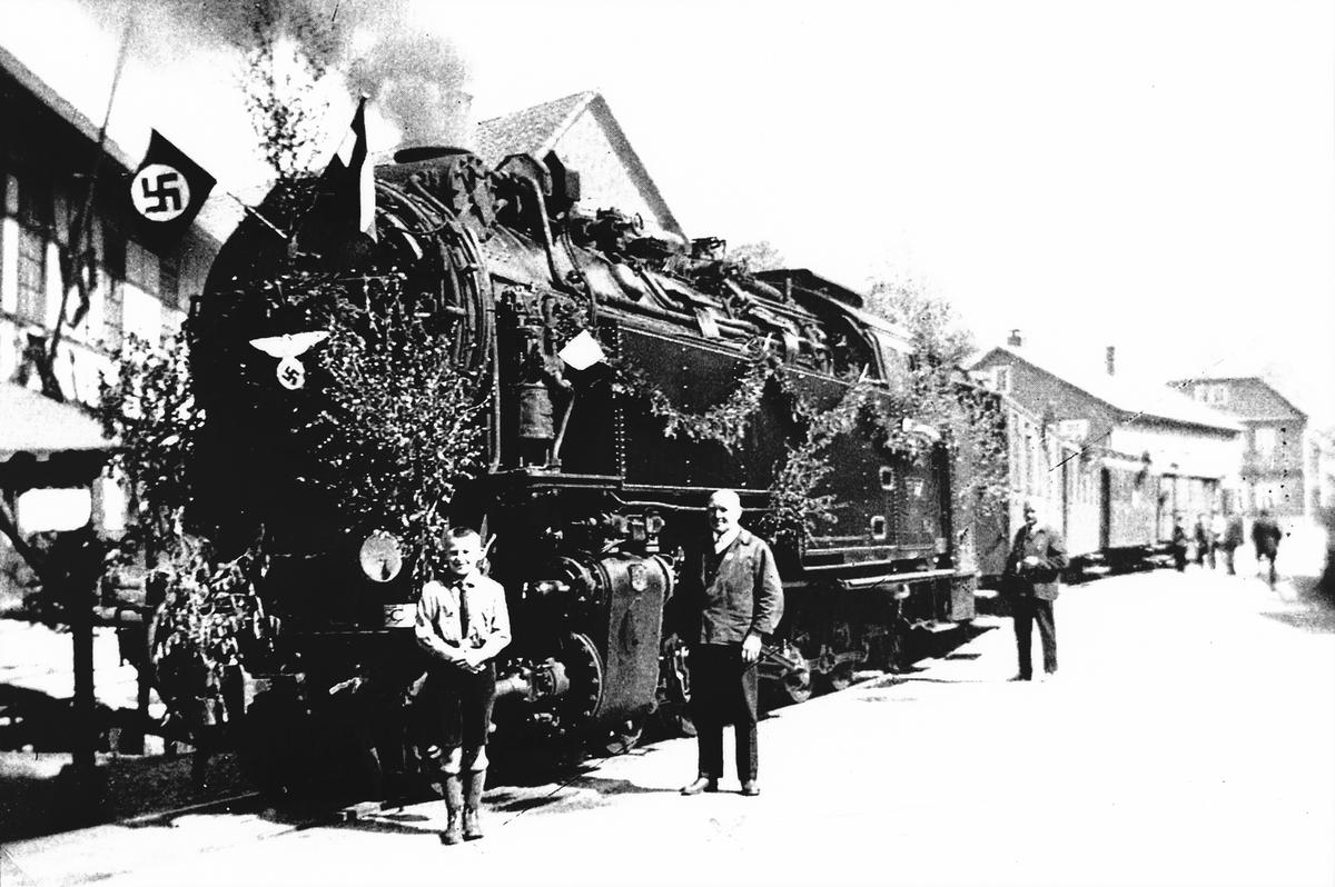 Tysk damplokomotiv som gikk på Thamshavnbanen under krigen.