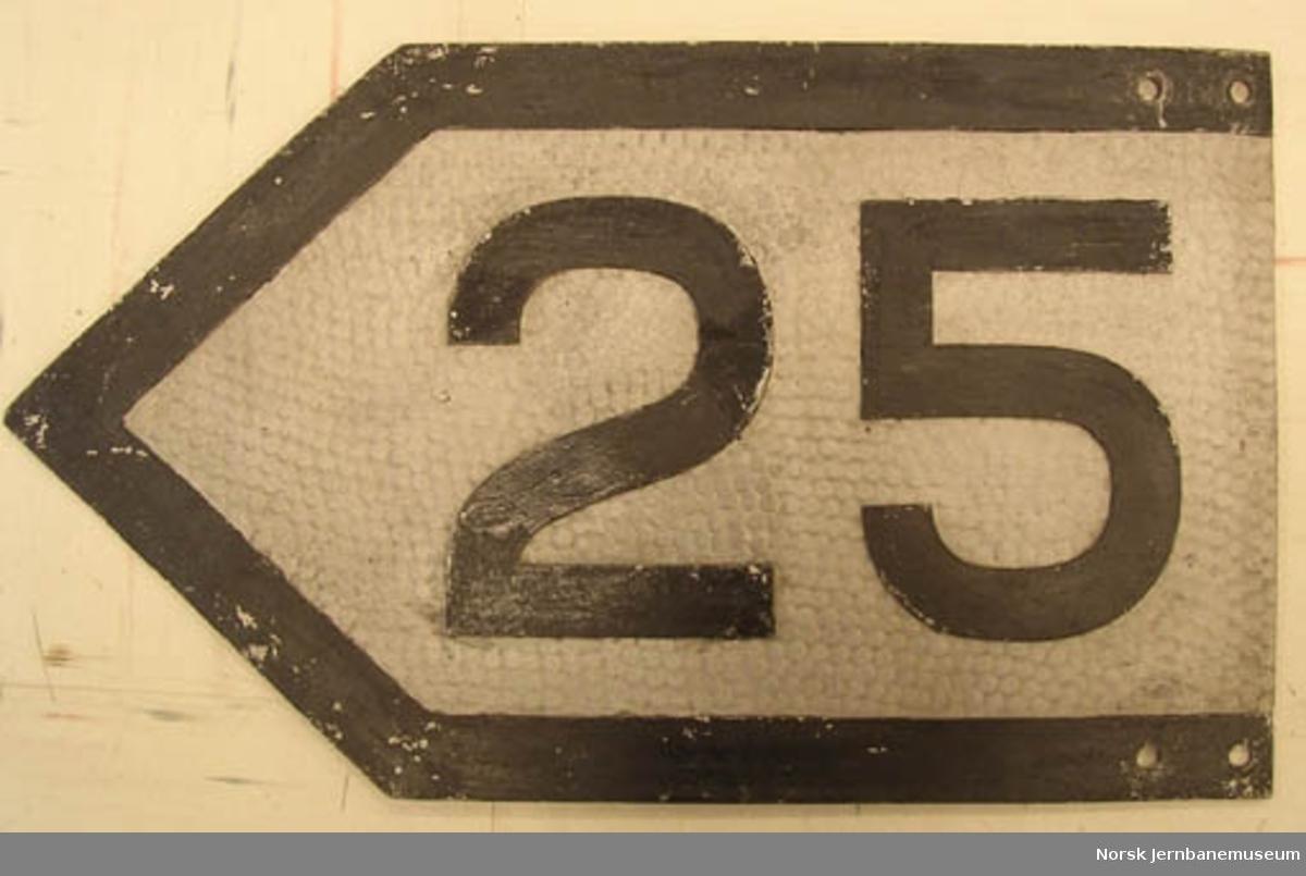 Hastighetssignal : 25