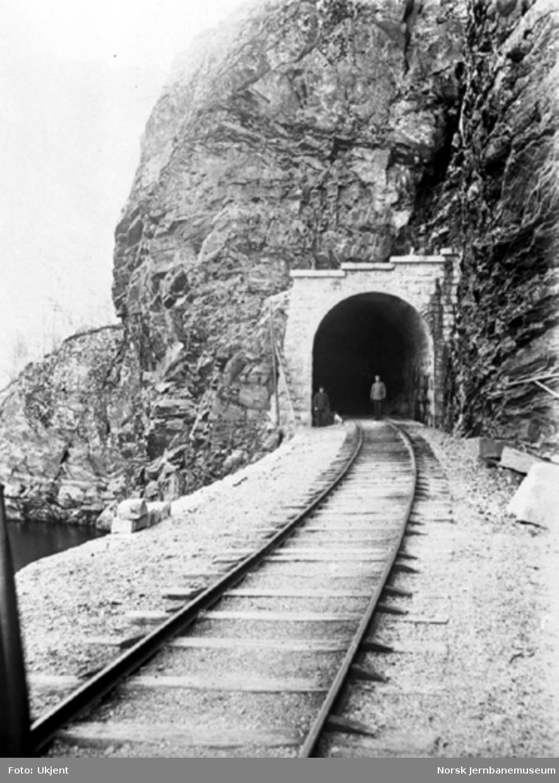 Overmuring ved Røvstona tunnel