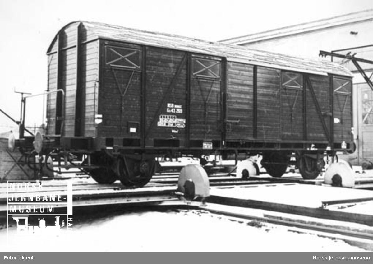 Lukket godsvogn litra G5 nr. 43269
