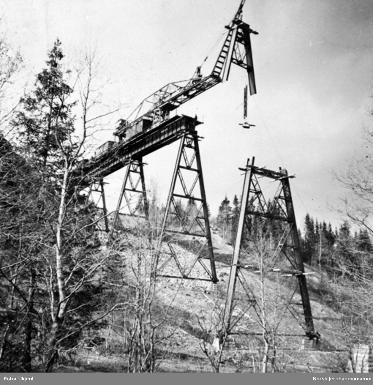 Trolldalen viadukt under bygging : pilar 4