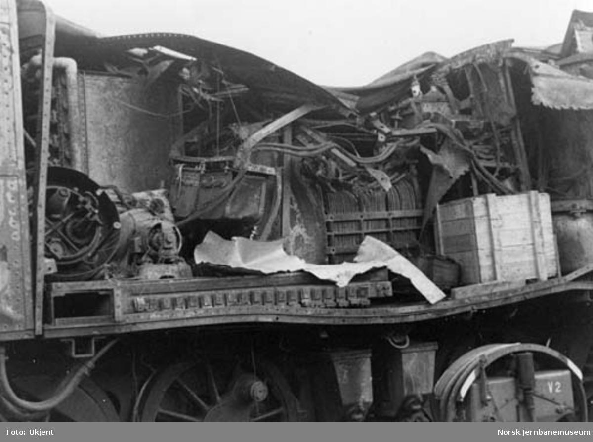 Sprengt elektrisk lokomotiv type El 4 nr. 2045 i Narvik