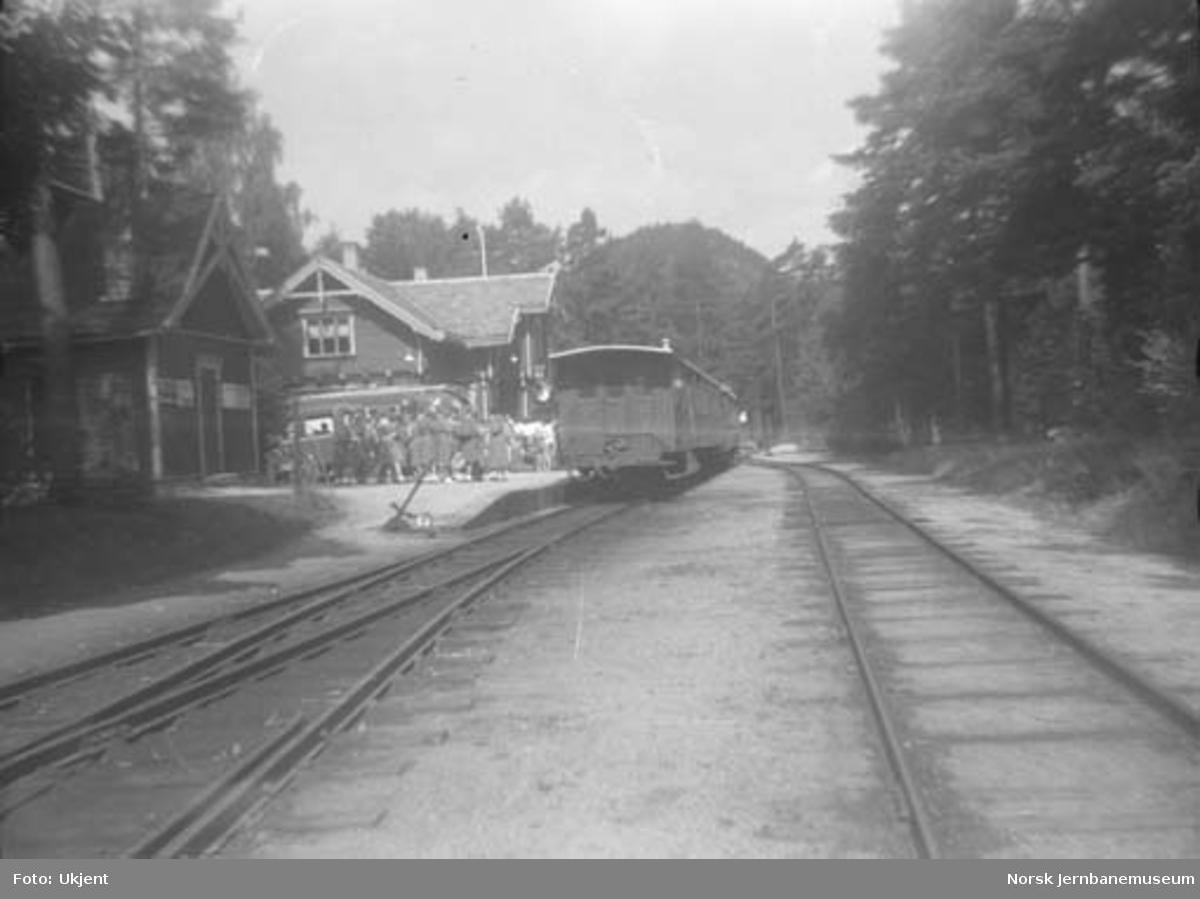 Byglandsfjord stasjon med ankommet persontog