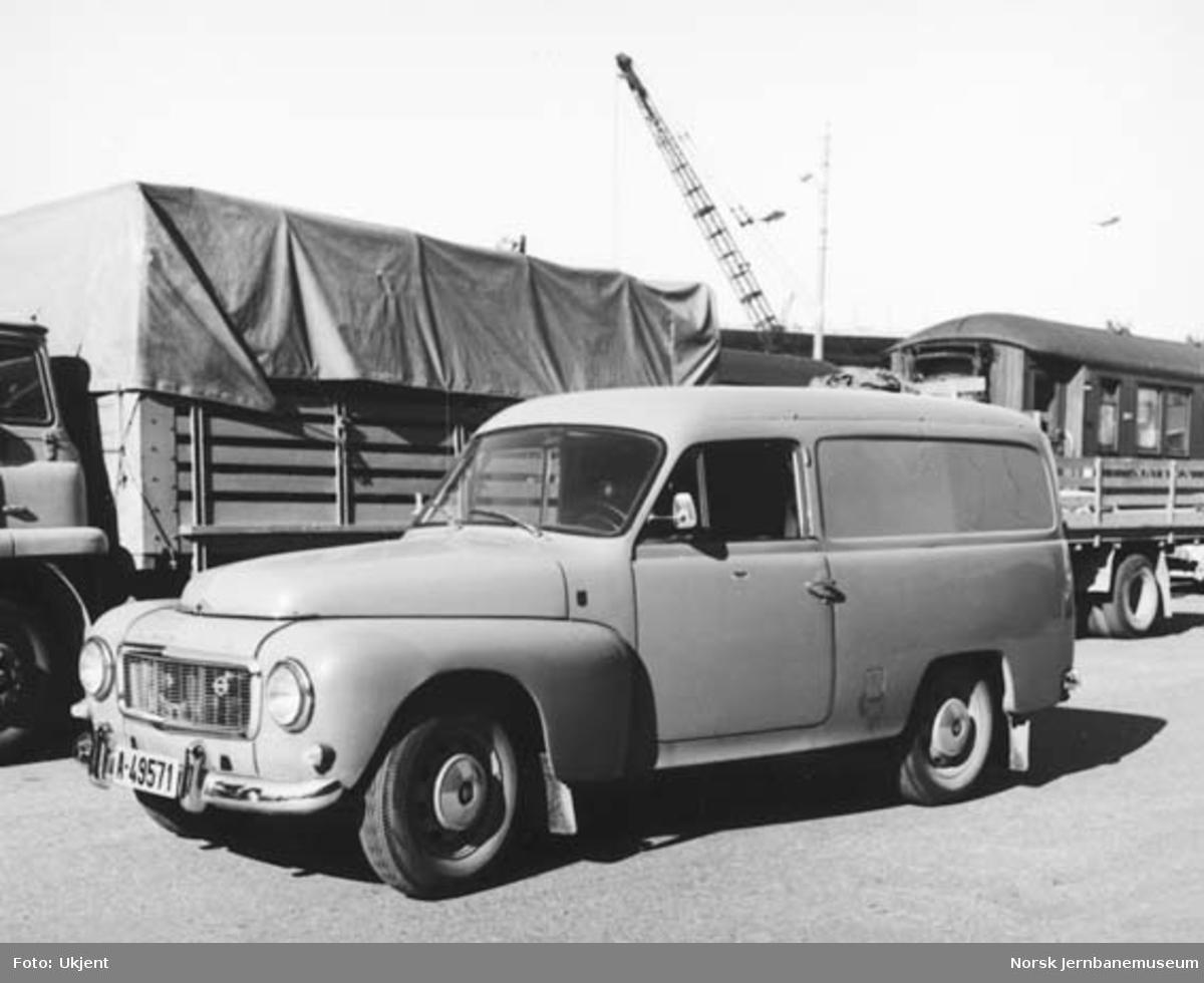 NSB varebil av merke Volvo