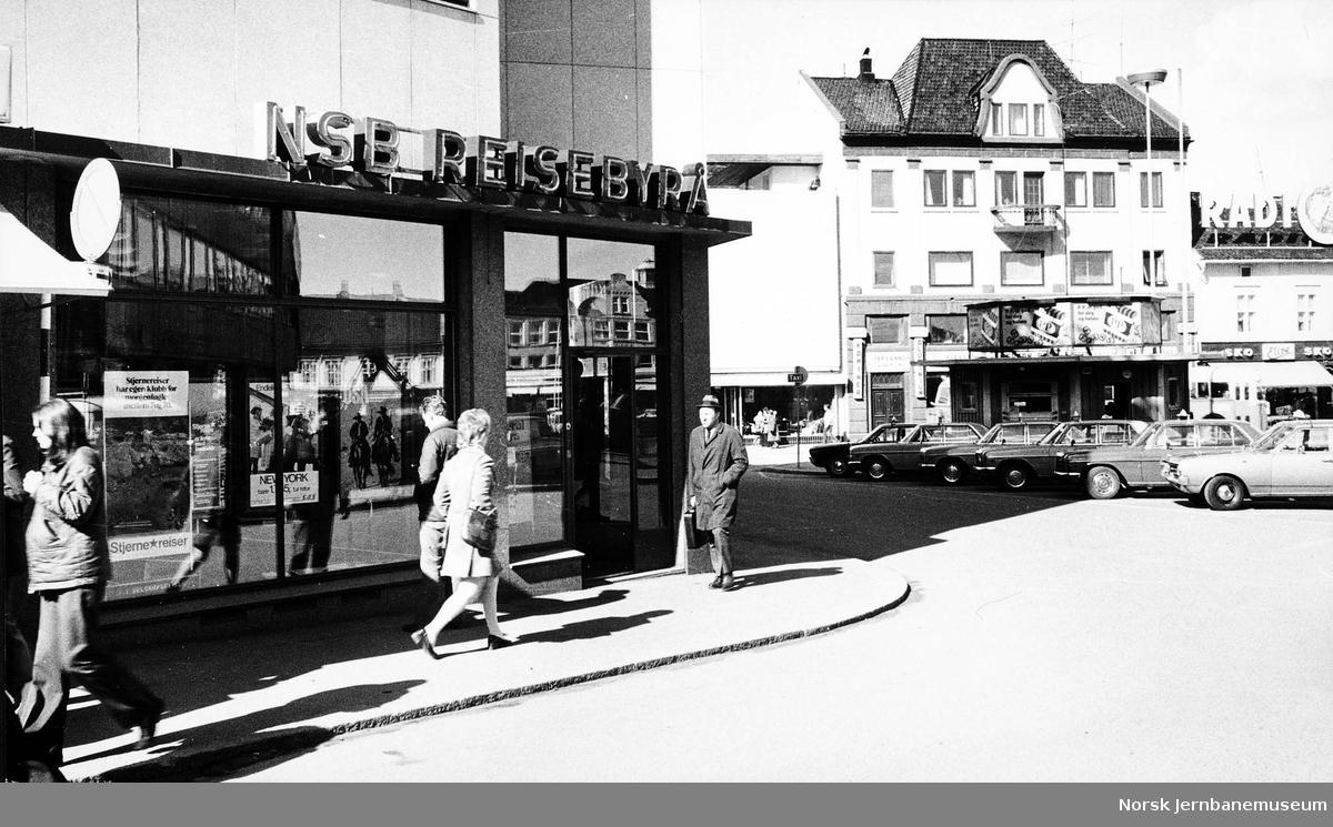 Inngangen til NSBs reisebyrå i Tønsberg