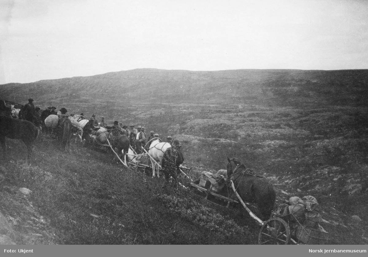 Jernbanestikking i Finnmark : på tilbaketur med hester og vogner