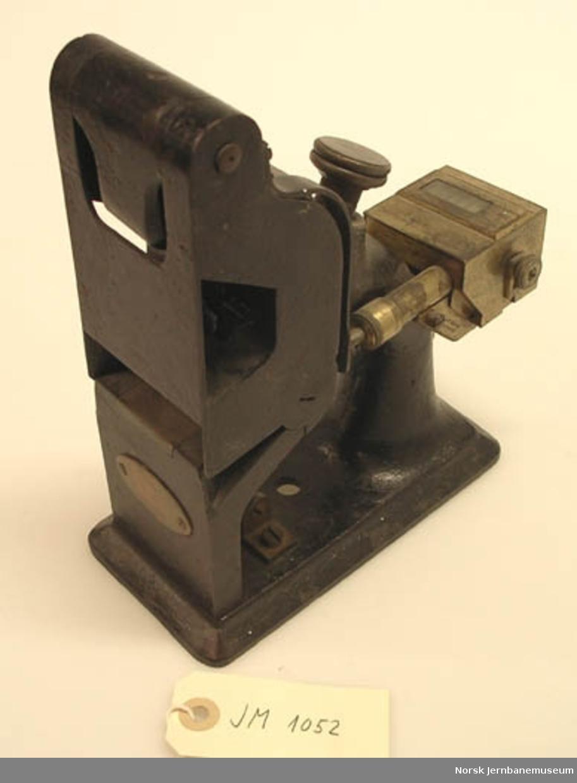 Billettpresse, Edmondsons patent : med telleverk
