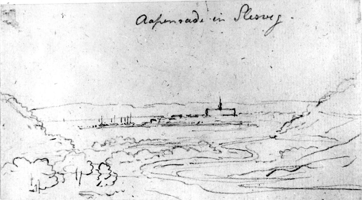 "ÅbenråFra skissealbum av John W. Edy, ""Drawings Norway 1800""."