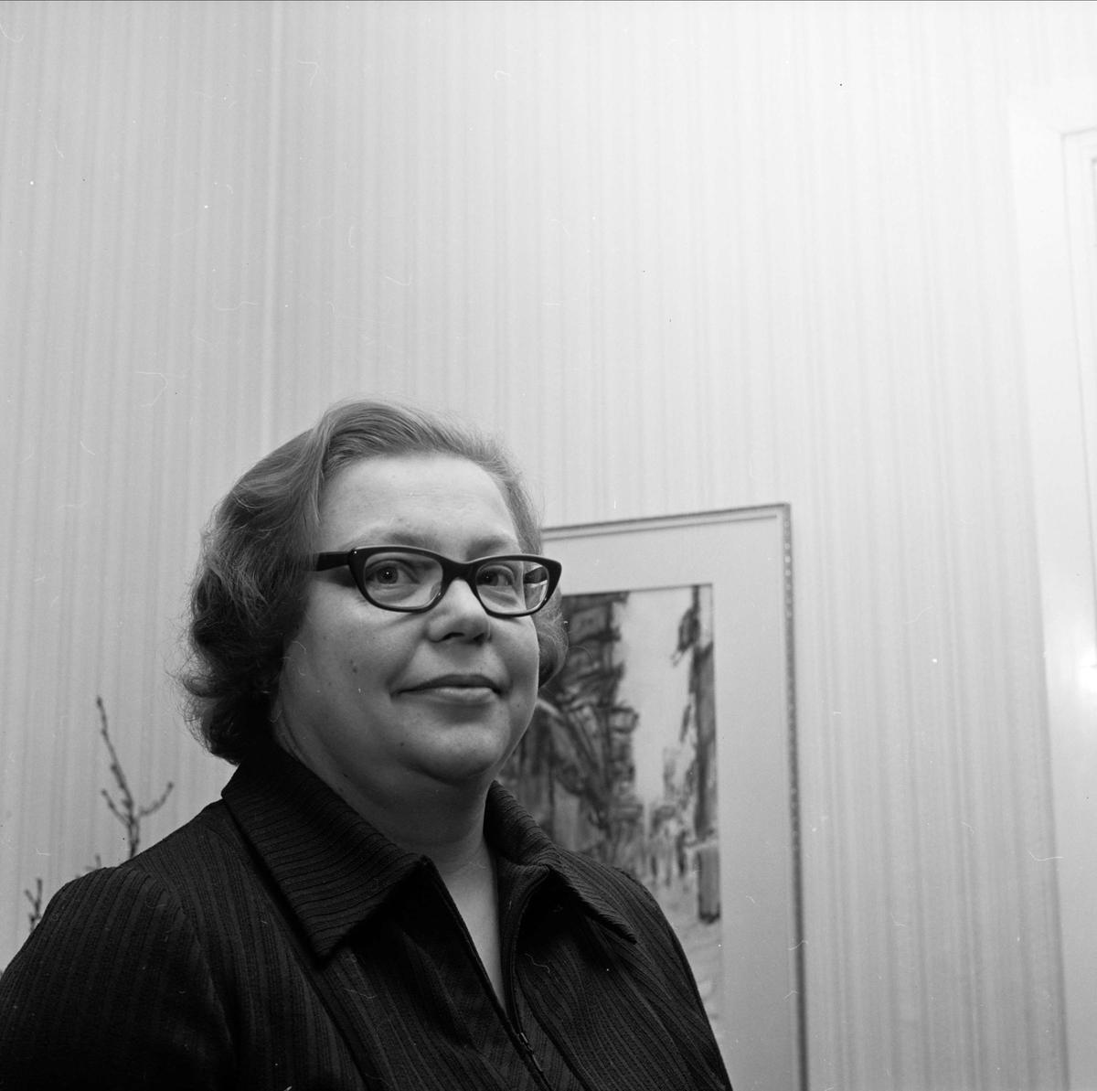 """""""Söderforsmödrar valde ny ordförande"""", Söderfors, Uppland februari 1973"""
