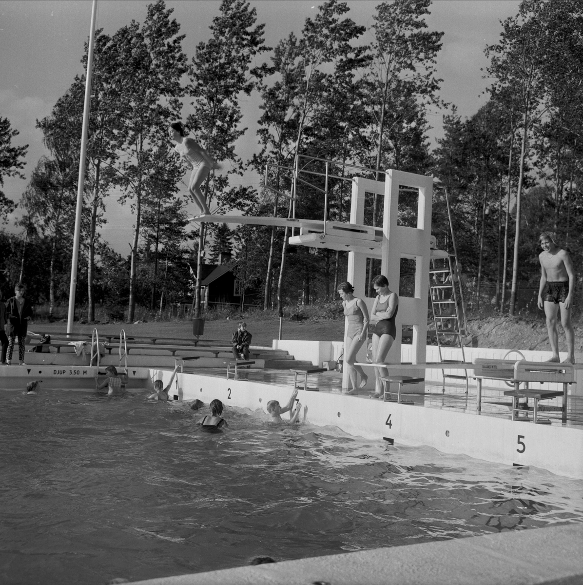 Badrusch i Tierp, Uppland september 1966