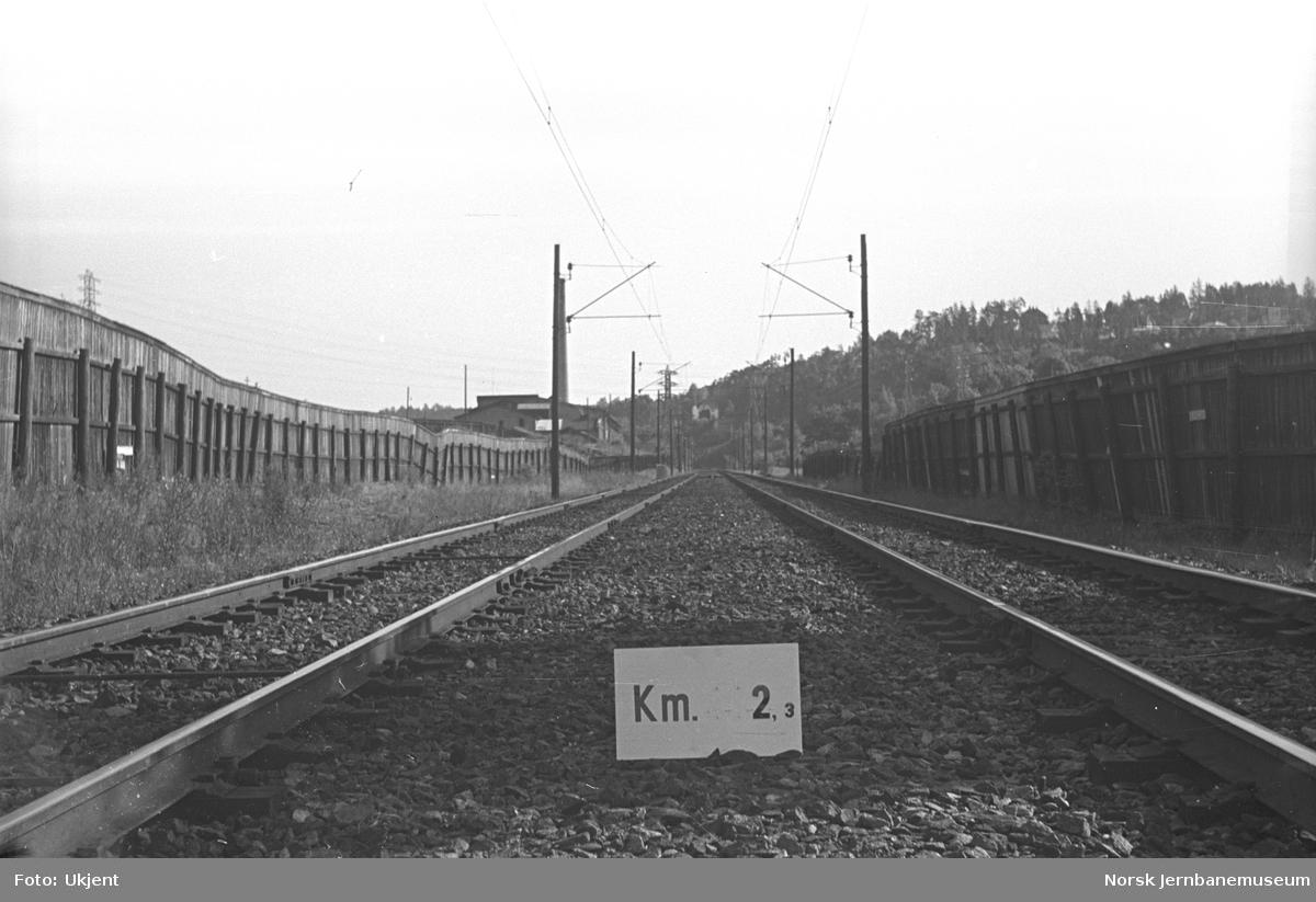 Hovedbanen : linjeføring km 2,3