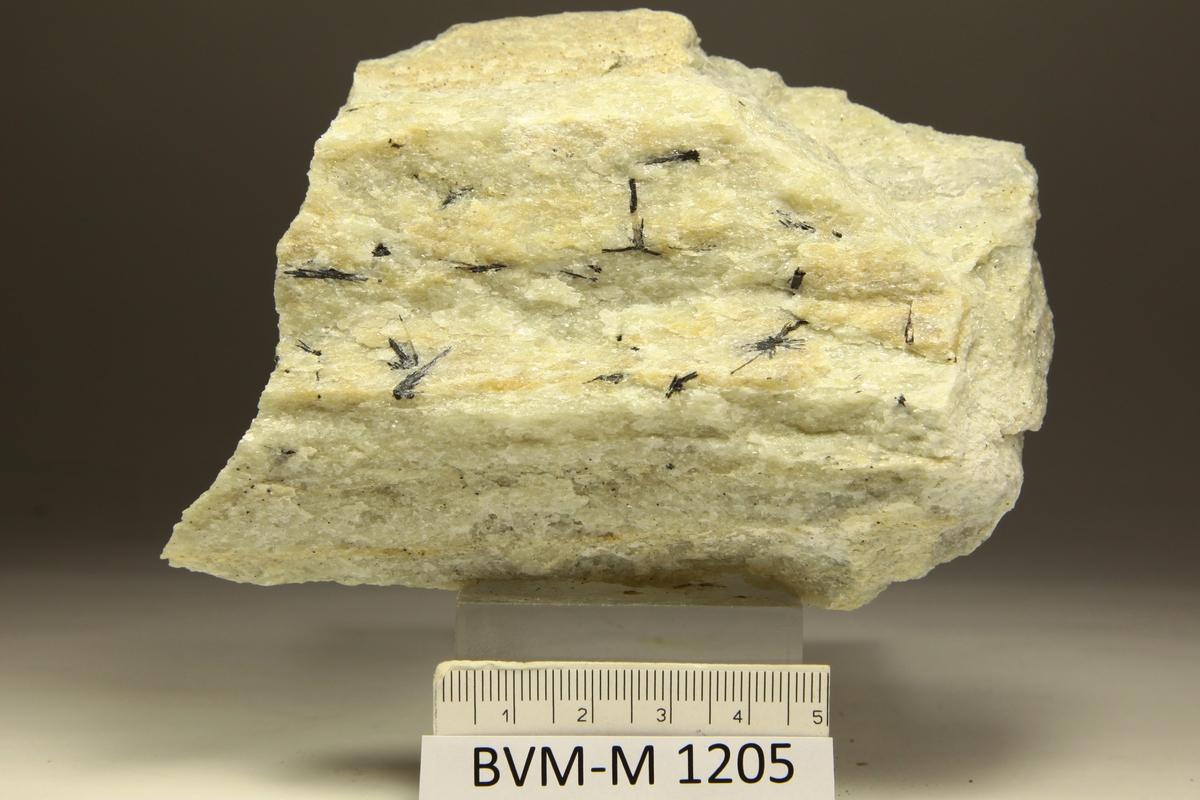 Ludwigitt i hvit marmor. Mehus