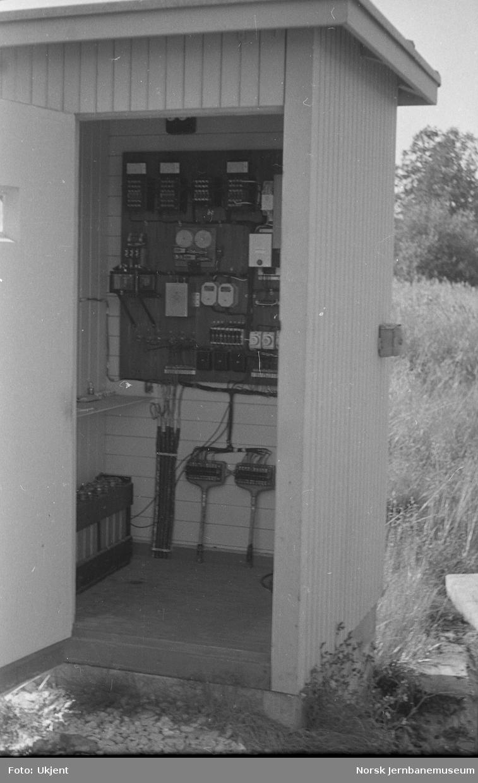Apparatskap for planovergang ved Mo i Rana