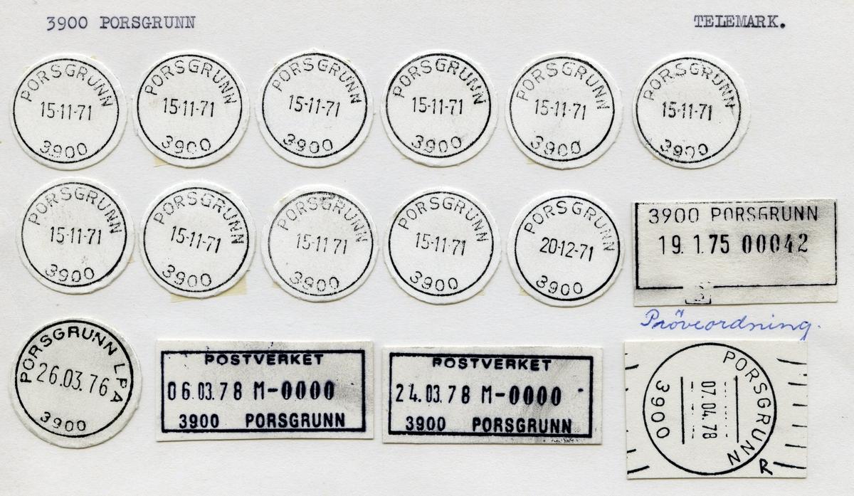 Stempelkatalog 3900 Porsgrunn (Porsgrund), Telemark