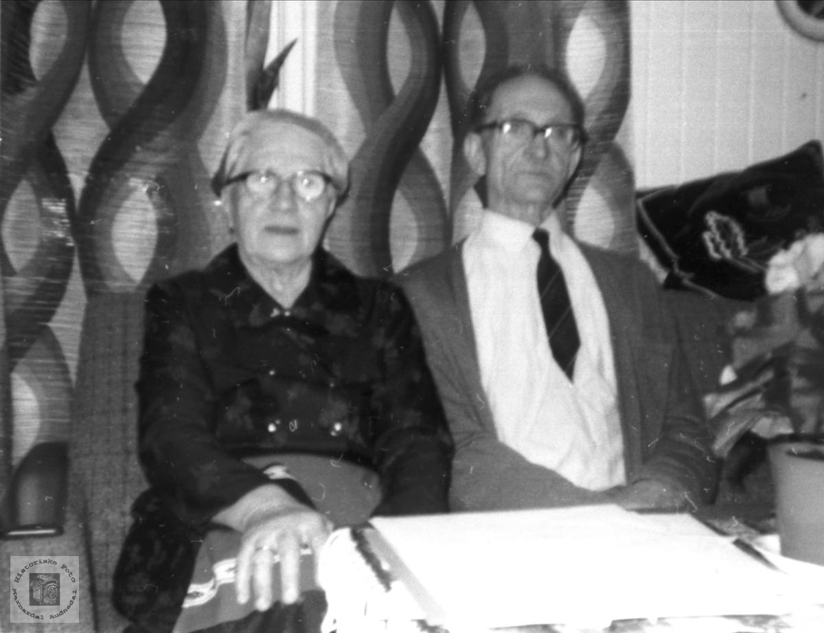 Portrett av ekteparet Ingeborg og Reidar Hagen.