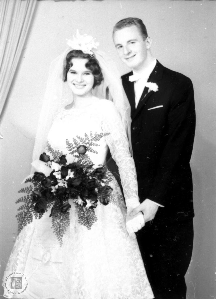 Brudeparet Eva Brit og Tor Håberg, Bjelland.
