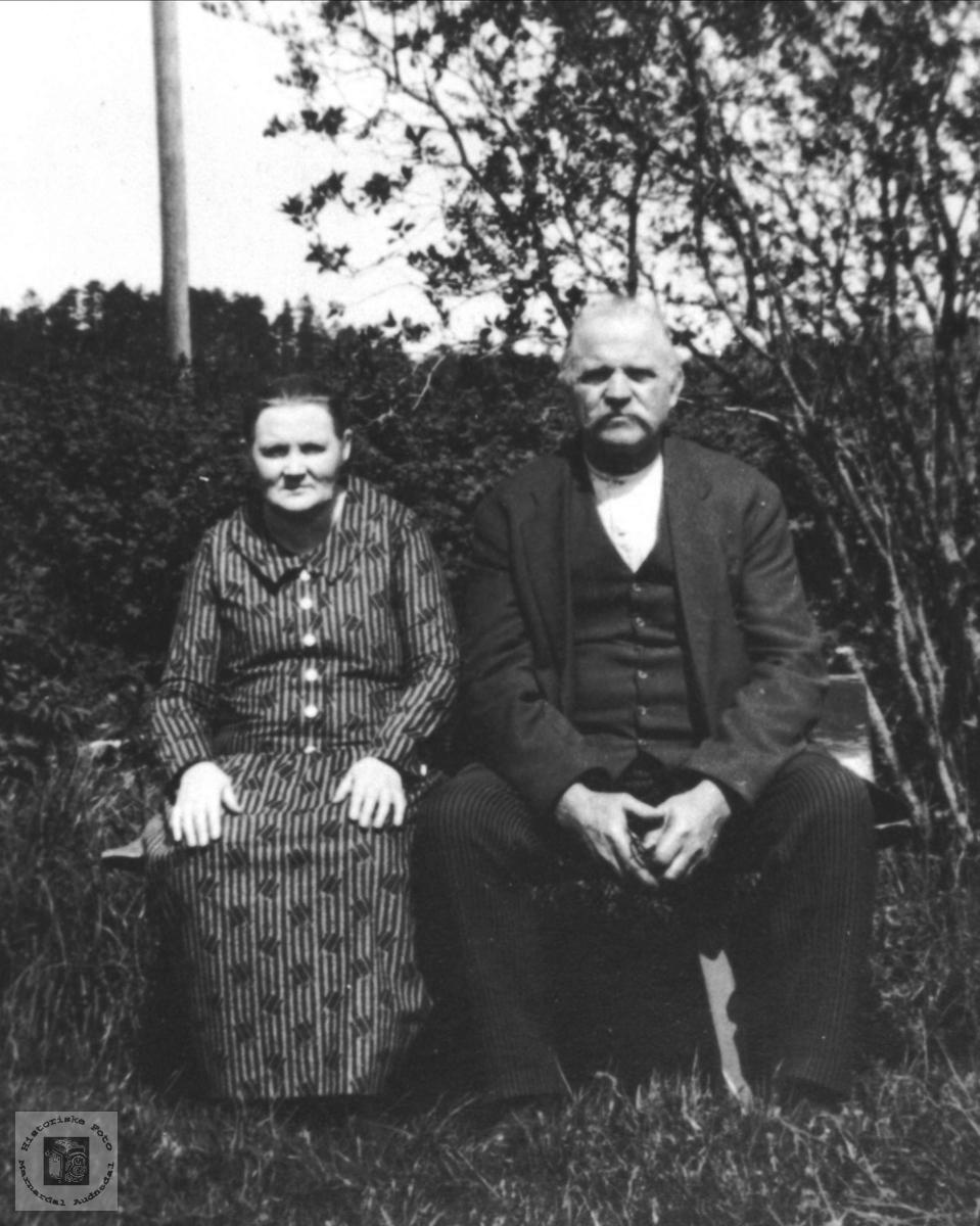 Portrett av Halvor og Dorte Oline Kjellemo.