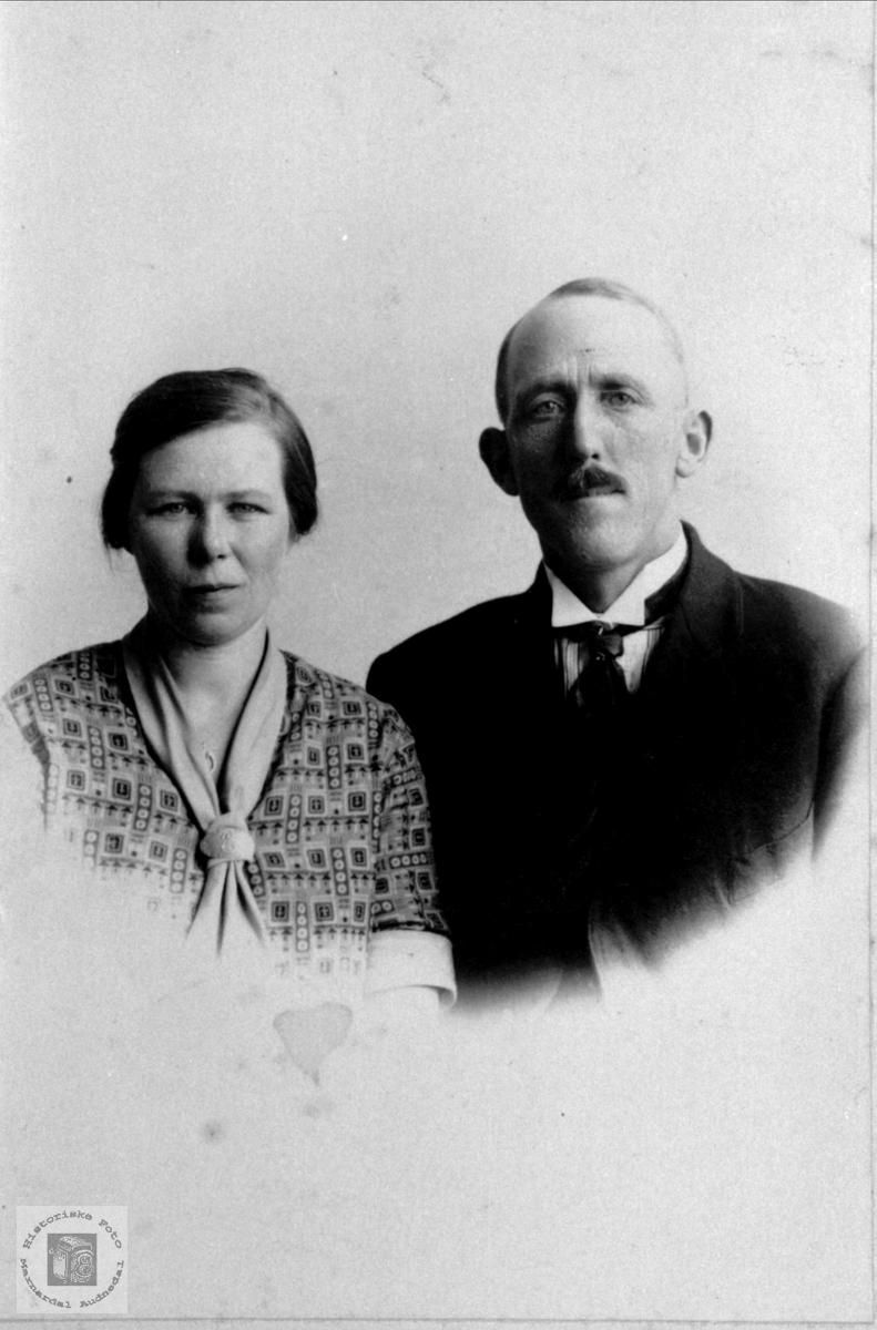 Dobbelportrett av Else Bertine og Karl Gustav Skjævesland, Øyslebø.
