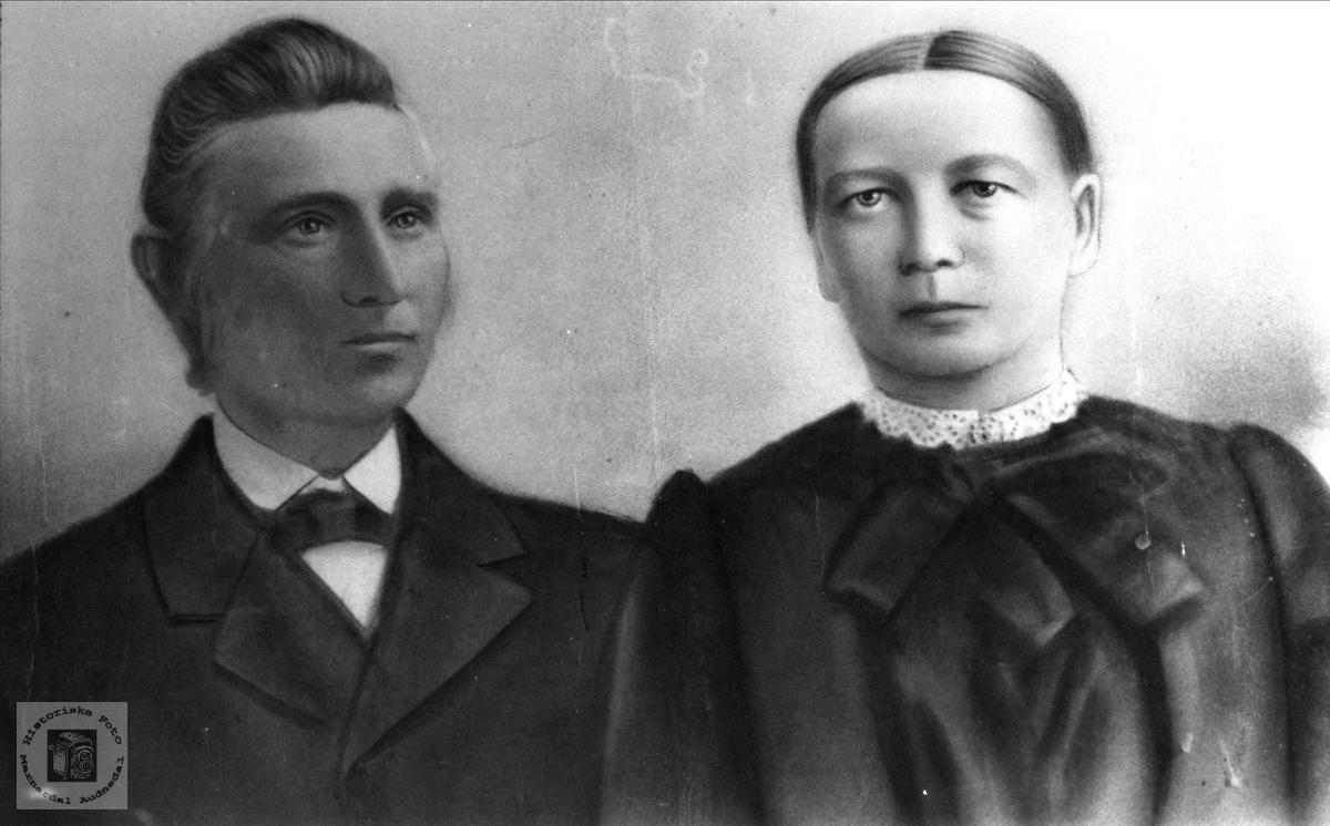 Ekteparet Nils og Todne Finsdal, Øyslebø.