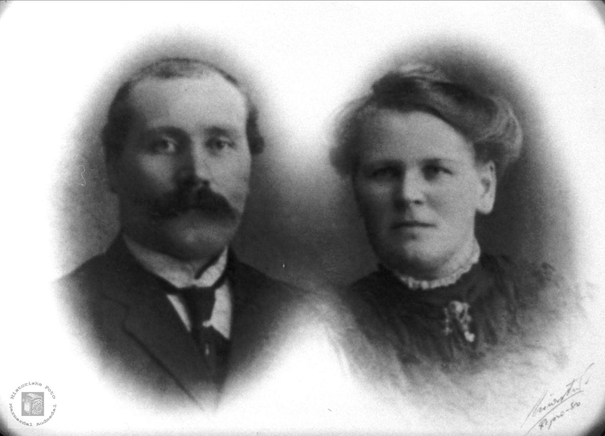 Ekteparet Aanen og Berte Katrine Skoddan