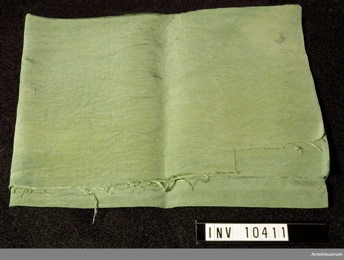 Fansiden m/1899, grönt. Grupp B I. Samhörande nr är 10410, 10411 (1932:21719).