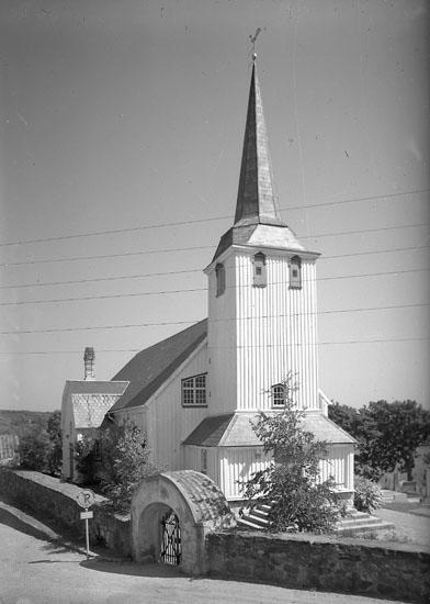 """Enligt AB Flygtrafik Bengtsfors: """"Fiskebäckskil kyrka Bohuslän""""."""