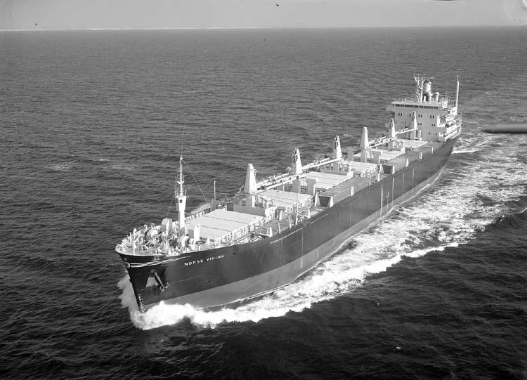 M/S Norse Viking DWT. 22.040 Rederi Cardigan Shipping Co. Ltd., Cardiff Kölsträckning 69-08-28 Nr. 229 Leverans 70-04-03 Bilbulkfartyg