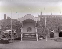 Paviljong på Nordisk Fiskeriutställning i Marstrand 1904