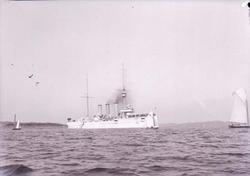 Pansarkryssaren Fylgia på Gullmarsfjorden 1910