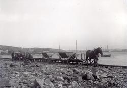 Arbete med Lysekilsbanan 1912