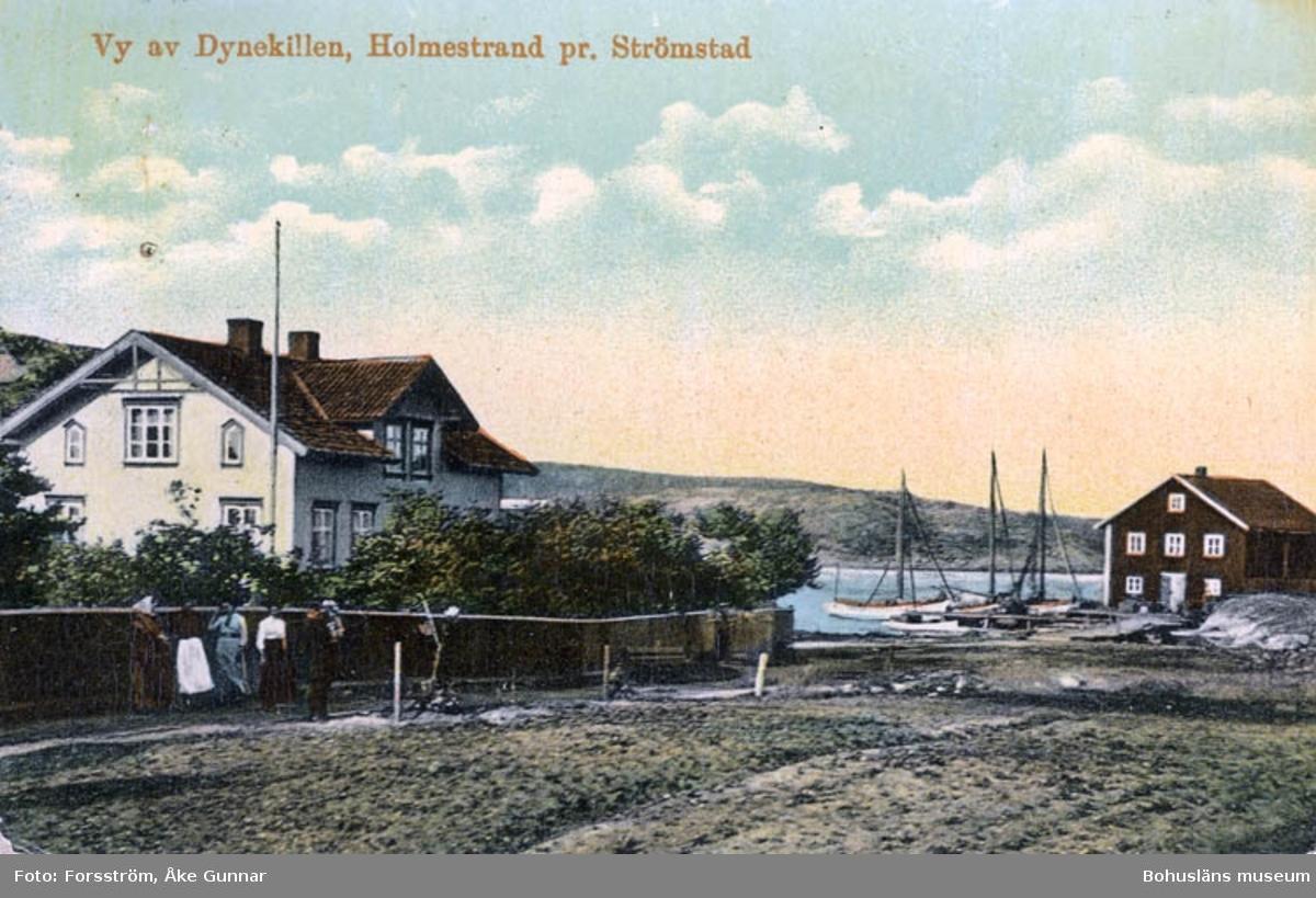 Vy av Dynekillen, Holmestrand pr. Strömstad. Import A.B. Göteborgs Konstförlag.