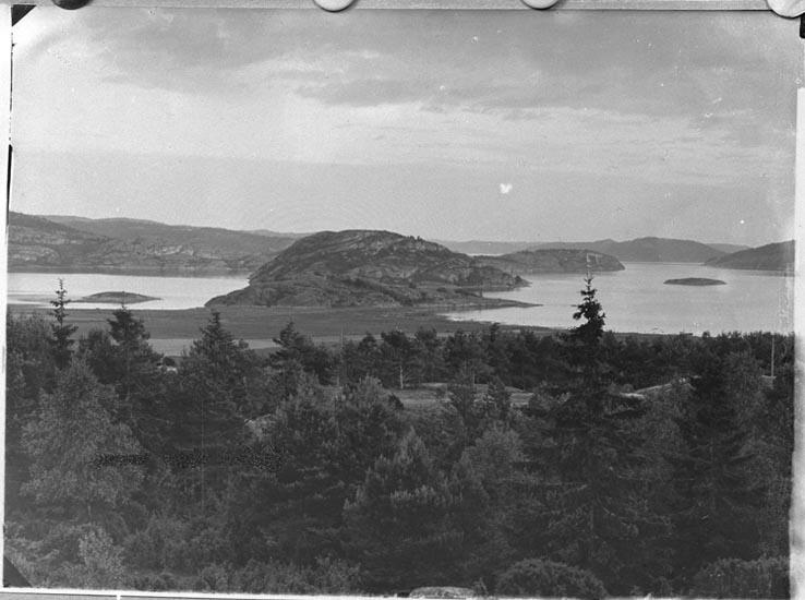 """Enligt fotografens anteckningar: """"1915 Holmarna, Högås socken, rep. för vykort""""."""