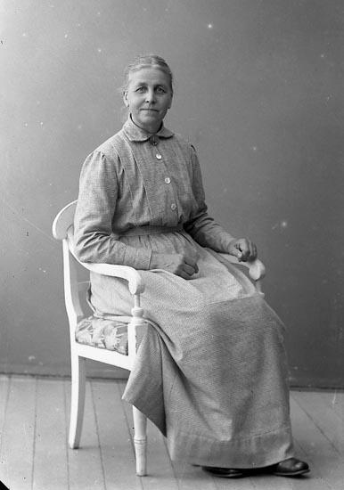"""Enligt fotografens journal nr 4 1918-1922: """"Söderberg, Anna Fru (adr. Stens) Här""""."""