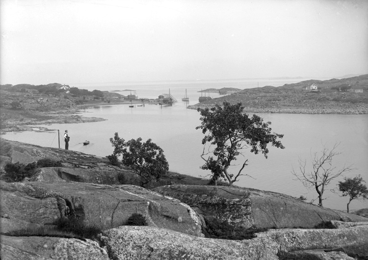 Juli 1924. Utsikt över hamnholmen utanför Ekenäs.